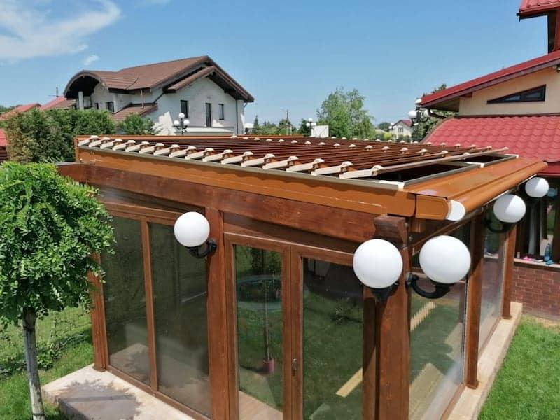 terasă din lemn