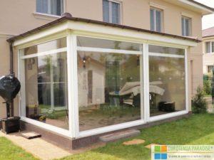 folie terasă, rulou transparent, prelată transparentă, folie