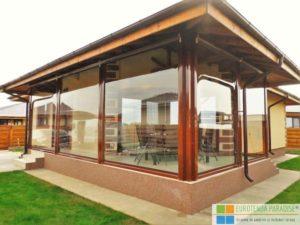 rulouri exterioare transparente, închideri terase