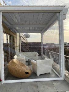 amanajare balcon folie transparentă